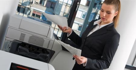 Impresora en la oficina